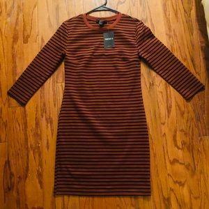 NWT Stripped Bodycon dress, size small
